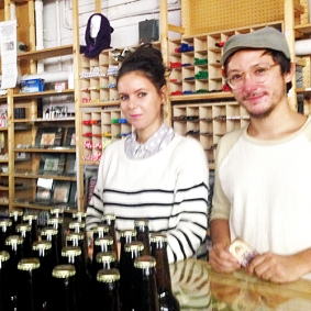 North Tea Power - nice cold coffee in a beer bottle
