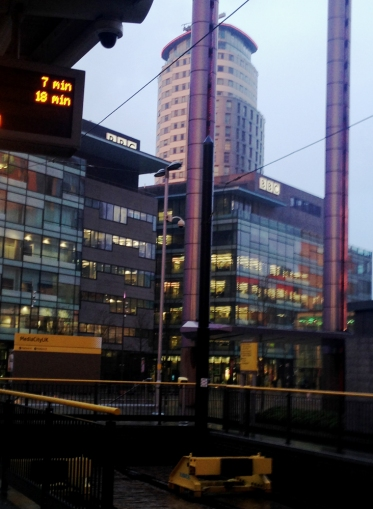 View of MediaCityUK from tram stop.